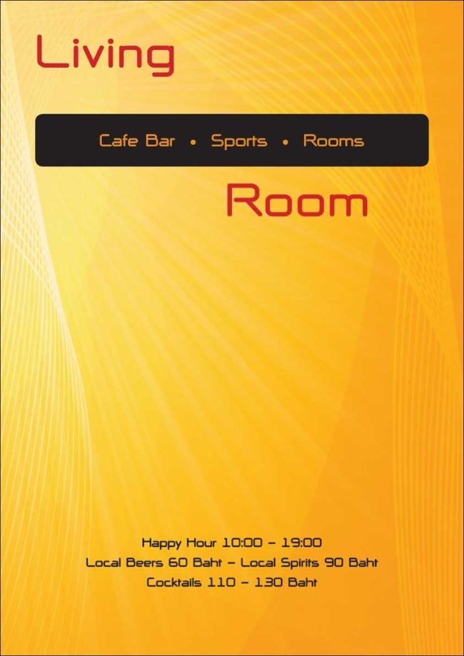 Welcome the living room phuket for Living room menu